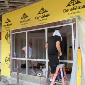 Commercial Hurricane Window Installation